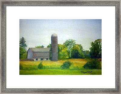 Farm In The Pine Barrens  Framed Print by Sheila Mashaw