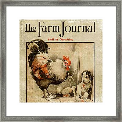 Farm Journal 1921 Framed Print by Bonnie Bruno