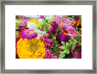 Farm Market Flowers Framed Print by PhotohogDesigns