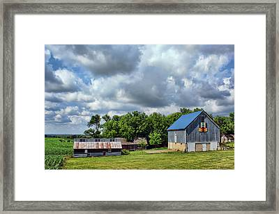 Farm Scene - Barns - Nebraska Framed Print by Nikolyn McDonald