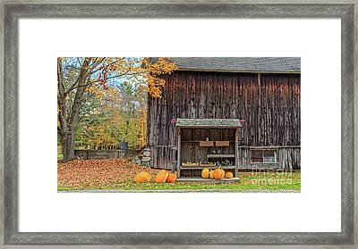 Farm Stand Etna New Hampshire Framed Print by Edward Fielding