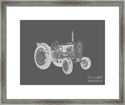 Farm Tractor Tee Framed Print by Edward Fielding
