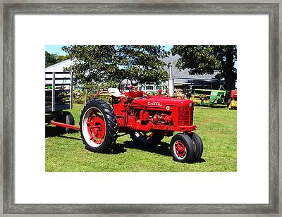 Farmall At The Country Fair Framed Print by Andrew Pacheco