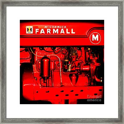Farmall Engine Detail Framed Print by Olivier Le Queinec