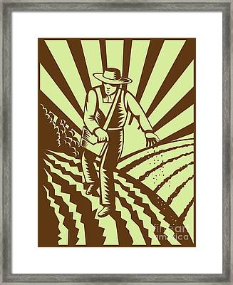 Farmer Sowing Seeds  Framed Print by Aloysius Patrimonio