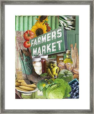 Farmers Market Framed Print by Robin Frazier