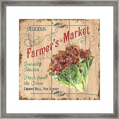 Farmer's Market Sign Framed Print by Debbie DeWitt