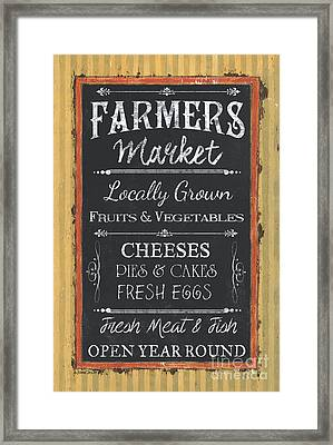 Farmer's Market Signs Framed Print by Debbie DeWitt