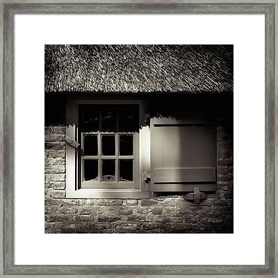 Farmhouse Window Framed Print by Dave Bowman