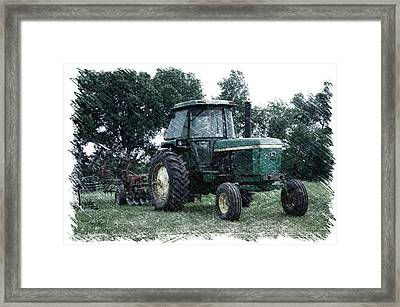 Farming John Deere 4430 Pa 01 Framed Print by Thomas Woolworth