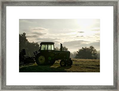 Farming John Deere 4430 Framed Print by Thomas Woolworth