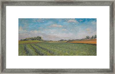 Farms And Fields Framed Print by Sandra Quintus