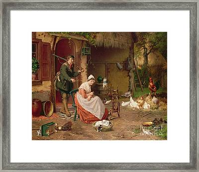 Farmyard Scene Framed Print by Jan David Cole