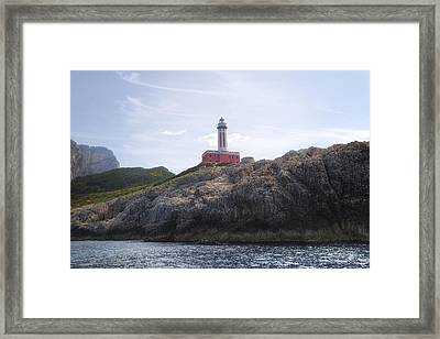 Faro Punta Carena - Capri Framed Print by Joana Kruse