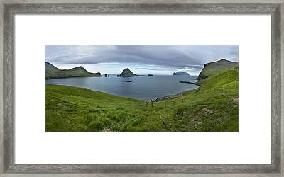 Faroes Panorama Framed Print by Robert Lacy