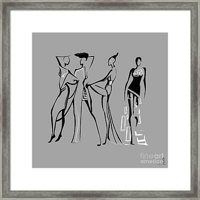 Fashion Abstraction N4 Framed Print by Gabriela Tasiro