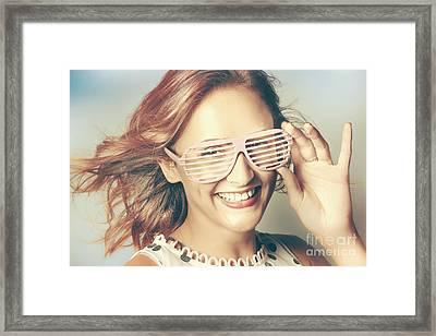 Fashion Eyewear Pin-up Framed Print by Jorgo Photography - Wall Art Gallery