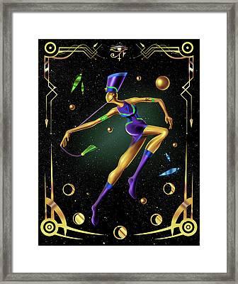 Fashion Goddess No. 4 Framed Print by Kenal Louis