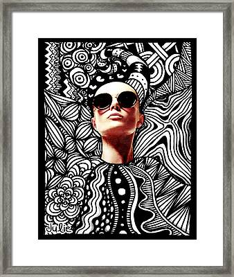 Fashion Tangle Framed Print by Julie Erin Designs