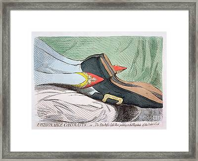 Fashionable Contrasts Framed Print by James Gillray