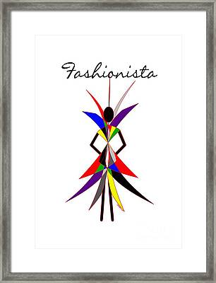 Fashionista Framed Print by Methune Hively