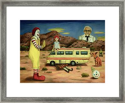 Fast Food Nightmare 5 The Mirage Framed Print by Leah Saulnier The Painting Maniac