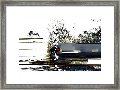 Faster Than A Speeding Train Framed Print by Skip Willits