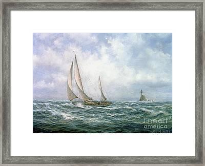 Fastnet Abeam Framed Print by Richard Willis