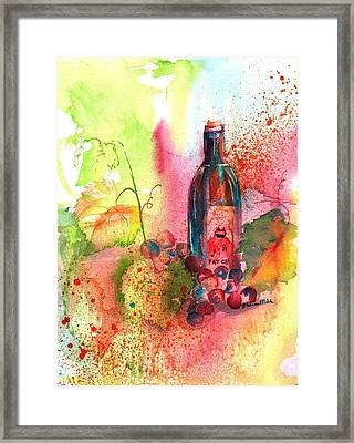 Fat Cat Wine Framed Print by Sharon Mick