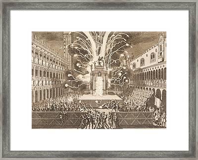 Fat Thursday In St Mark's Square In Venice, 1757 Framed Print by Italian School
