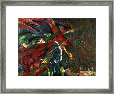 Fate Of The Animals Framed Print by Franz Marc