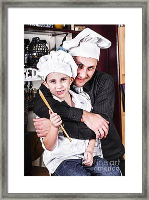 Father And Child Spending Quality Time Cooking Framed Print by Jorgo Photography - Wall Art Gallery