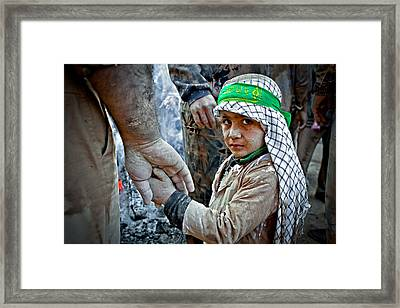 Father And Son Framed Print by Mohammadreza Momeni