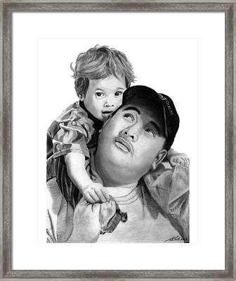 Father And Son  Framed Print by Peter Piatt