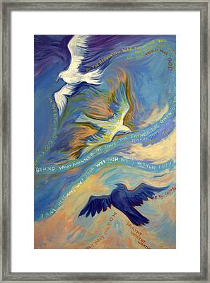 Father Son And Holy Spirit Framed Print by Jill Iversen