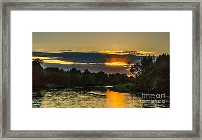 Father's Day Sunset Framed Print by Robert Bales