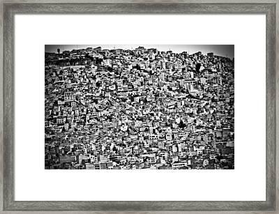 Favela Village In El Alto, La Paz, Bolivia Framed Print by Joel Alvarez