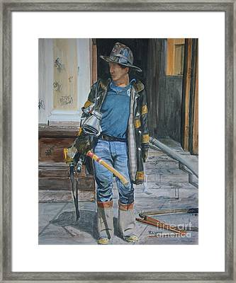 Fdny  Harlem Truckie- Ladder 28 Framed Print by Paul Walsh