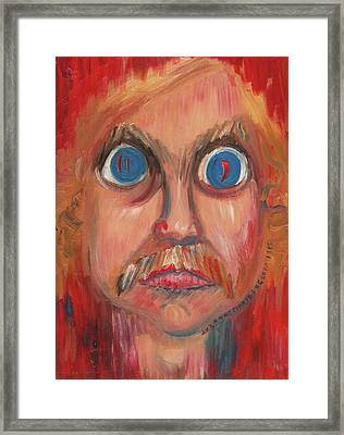 Fear And Hate Framed Print by Suzanne  Marie Leclair