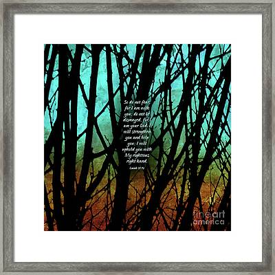 Fear Not Framed Print by Shevon Johnson