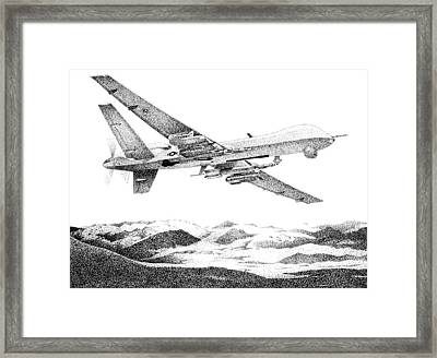 Fear The Reaper Framed Print by Lyle Brown