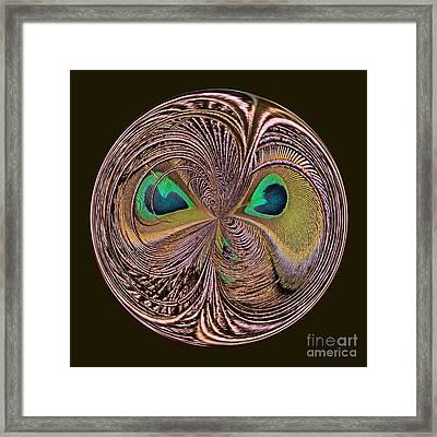 Feather Eyes Orb Framed Print by Marv Vandehey