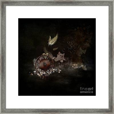 Feathers - Jewels - Thoughts Framed Print by Monique Hierck