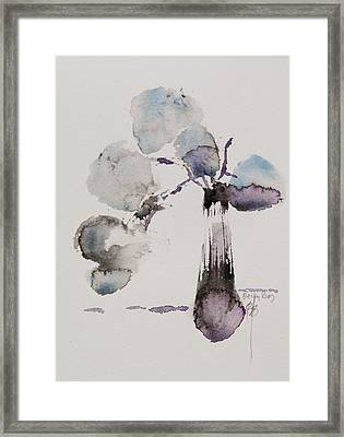 February Framed Print by Becky Kim