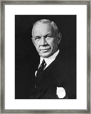 Federal Reserve Banker Framed Print by Underwood Archives