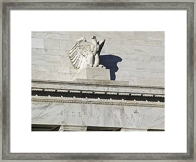 Federal Reserve Eagle Detail Washington Dc Framed Print by Brendan Reals