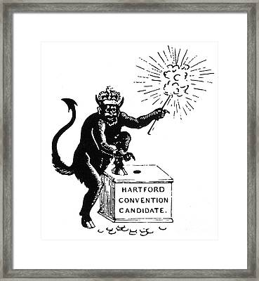 Federalist Cartoon, 1816 Framed Print by Granger