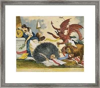 Federalist Cartoon, C1799 Framed Print by Granger