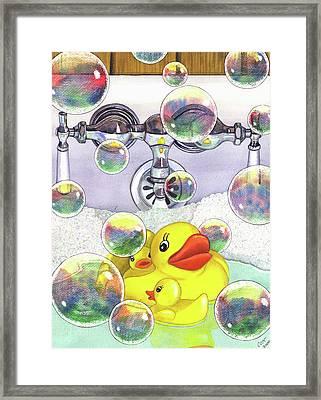 Feelin Ducky Framed Print by Catherine G McElroy