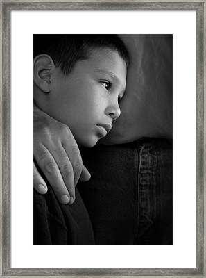Feeling Safe With Dad Framed Print by Don Wolf
